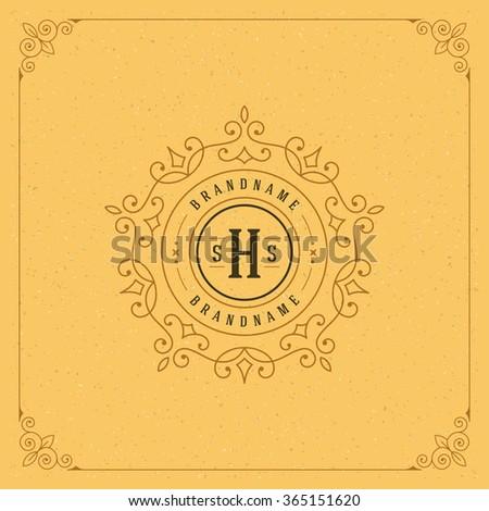 Royal Logo Design Template. Flourishes calligraphic elegant ornament lines. Luxury Logo, Crest Logo, Ornament Logo, Vintage logo, Vector Design, Logo Design, Premium Logo, Boutique Logo, Monogram. - stock vector
