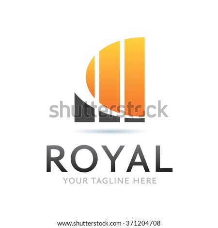 Royal Logo Icon Elements Template - stock vector