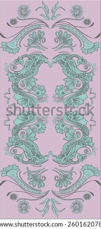Royal magic fairy tale birds and flowers pattern. - stock vector