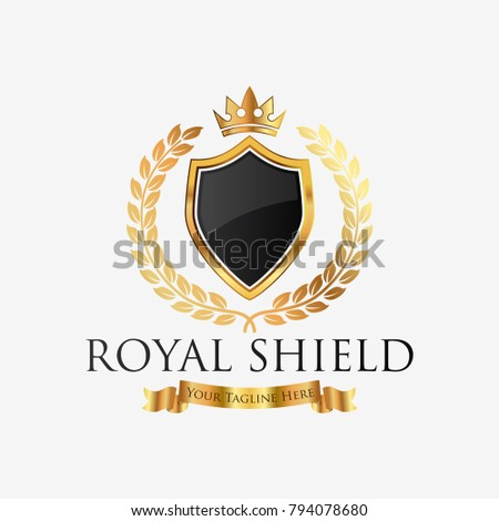 royal professional crest logo classic logo stock vector 794078680