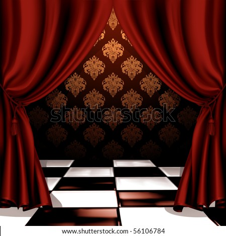 Royal room, vector - stock vector