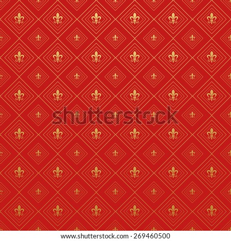 Royal Wallpaper Background for Your design - stock vector