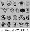 royalty icons. such logos - stock vector