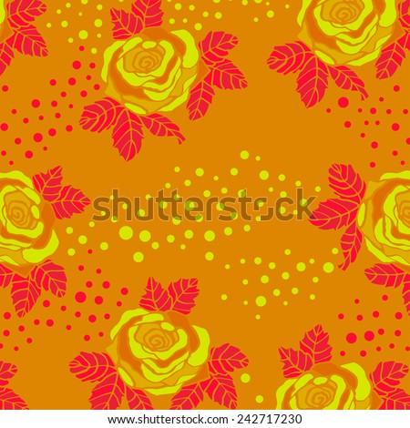 Roze pattern. - stock vector