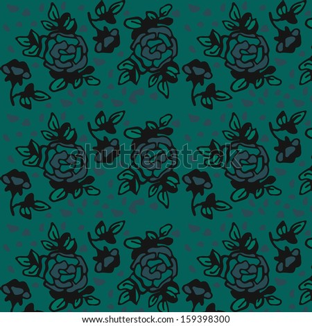 Roze pattern. Retro design