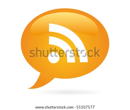 rss bubble - stock vector