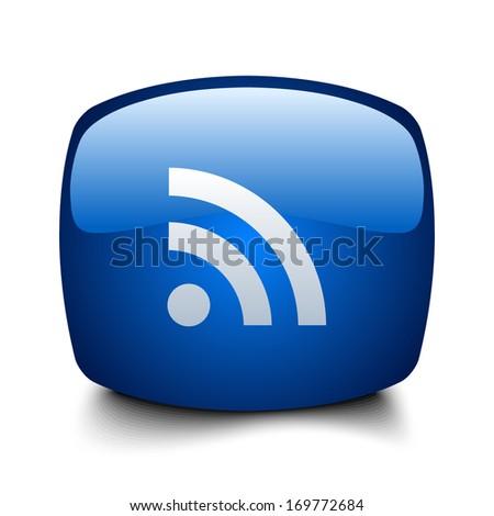 RSS button - stock vector