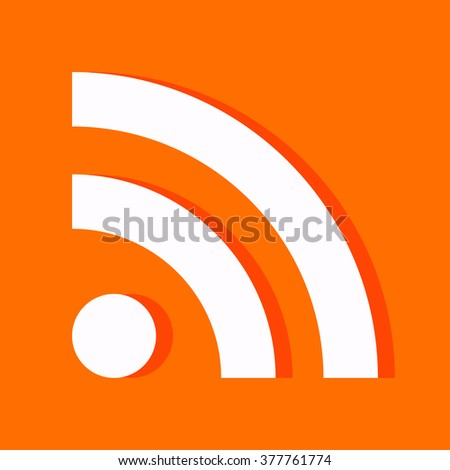 Rss Icon / Rss Icon Vector / Rss Icon Picture / Rss Icon Graphic / Rss Icon Art / Rss Icon JPG / Rss Icon JPEG / Rss Icon EPS / Rss Icon AI - stock vector