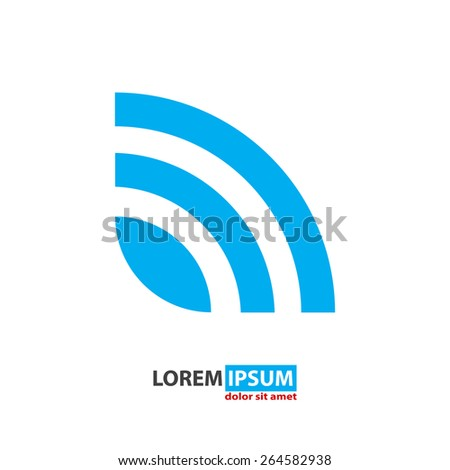 rss news feed vector icon  - stock vector