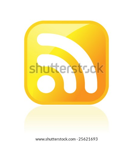 RSS symbol - stock vector