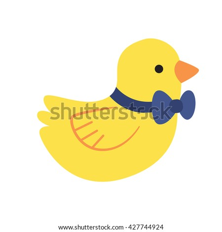 Rubber duck icon on white background