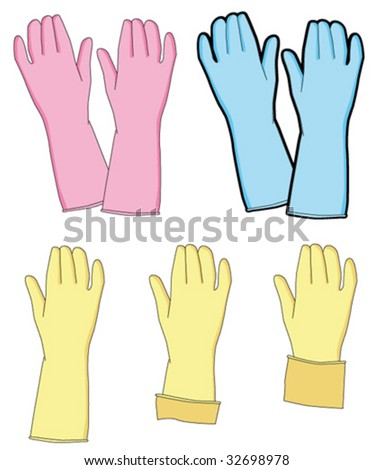 Rubber Gloves - stock vector