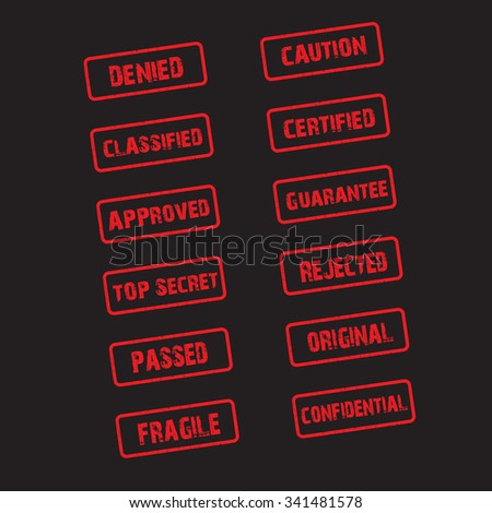 rubber stamp collection - stock vector