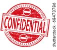 "Rubber stamp illustration showing ""Confidential"" text and symbol - stock photo"