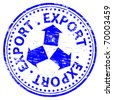 "Rubber stamp illustration showing ""EXPORT"" text - stock photo"