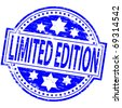 "Rubber stamp illustration showing ""LIMITED EDITION"" text - stock vector"