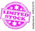 "Rubber stamp illustration showing ""LIMITED STOCK"" text - stock vector"
