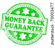 "Rubber stamp illustration showing ""MONEY BACK GUARANTEE"" text - stock vector"