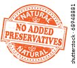 "Rubber stamp illustration showing ""NO ADDED PRESERVATIVES"" text - stock vector"