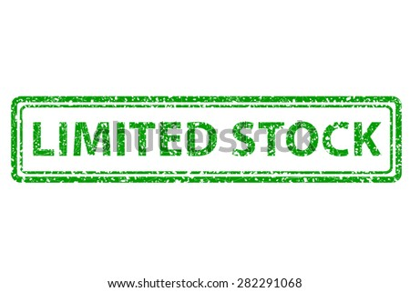 Rubber Stamp - Limited Stock  - stock vector