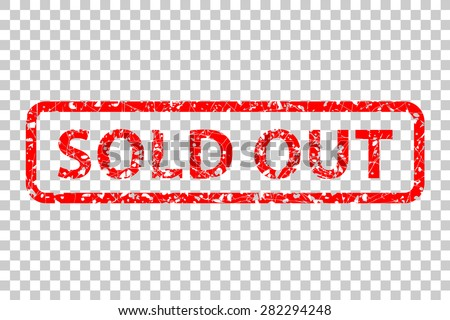 Rubber Stamp - Sold Out  - stock vector