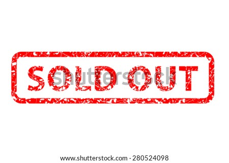 Rubber Stamp - Sold Out isolated at white  - stock vector