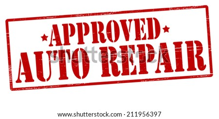Rubber stamp with text auto repair inside, vector illustration