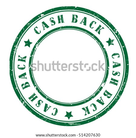 "rubber stamp with text ""cash back"" on white, vector illustration"