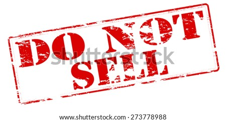 Rubber stamp with text do not sell inside, vector illustration