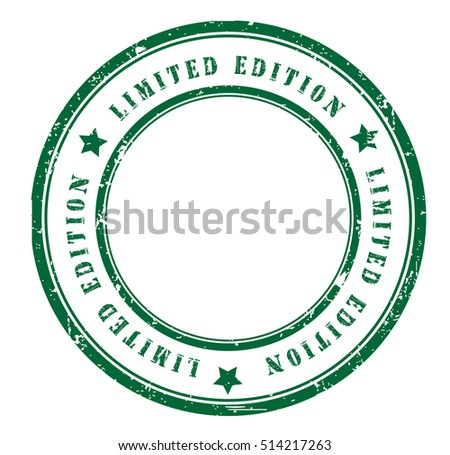 "rubber stamp with text ""limited edition"" on white, vector illustration"