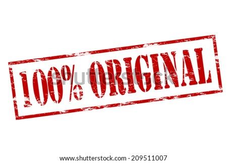 Rubber stamp with text one hundred percent original inside, vector illustration