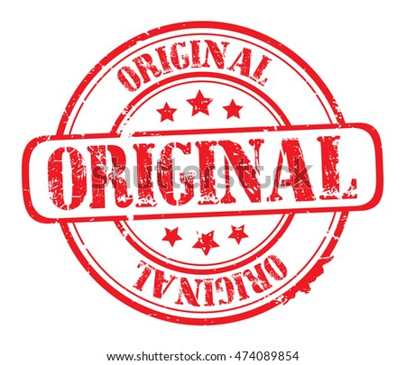 "rubber stamp with text ""original"" on white, vector illustration"
