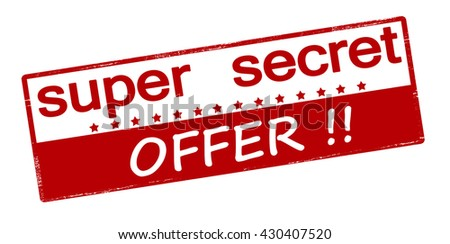 Rubber stamp with text super secret offer inside, vector illustration