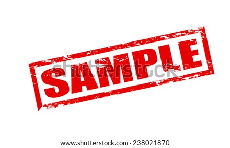 Rubber stamp with word sample inside, vector illustration - stock vector