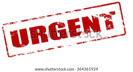 Rubber stamp with word urgent inside, vector illustration