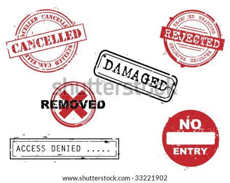 Rubber stamps set - stock vector
