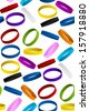 Rubber Wristband Bracelet Seamless Pattern Background Vector - stock photo