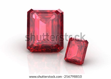 ruby on white background.Vector illustration. - stock vector