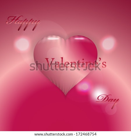 Ruby Red glossy valentines day background - eps 10 - stock vector