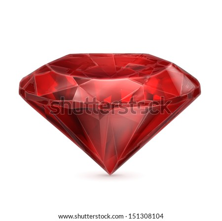 Ruby red vector icon - stock vectorRuby Slippers Vector