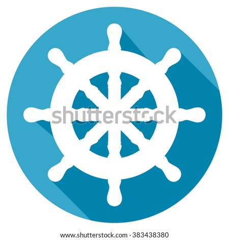 rudder flat icon - stock vector