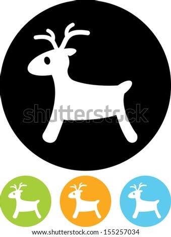 Rudolph reindeer vector icon - stock vector