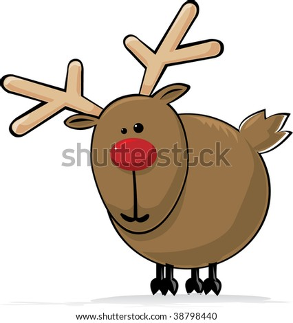 Rudolph the Red Nosed Reindeer - stock vector