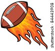 rugby (american football)  ball  in fire - stock vector