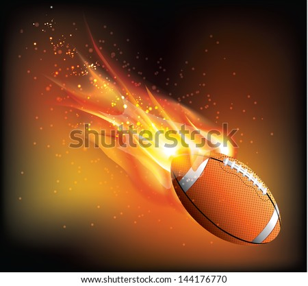 Rugby Ball Fly - stock vector
