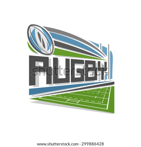 Rugby logo - stock vector