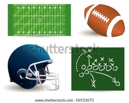 rugby set - stock vector