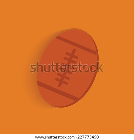 Rugby symbol on orange background,clean vector