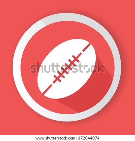 Rugby symbol,vector - stock vector