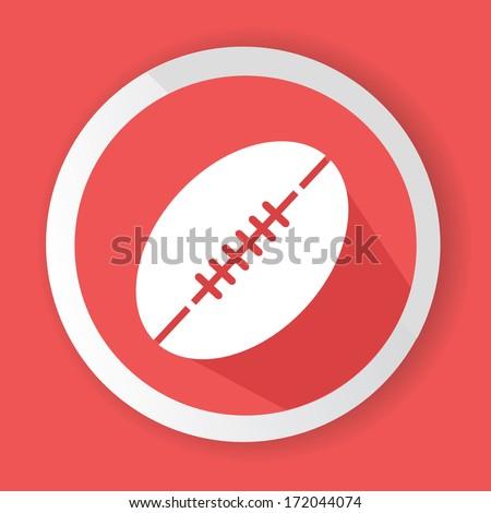 Rugby symbol,vector - stock vector